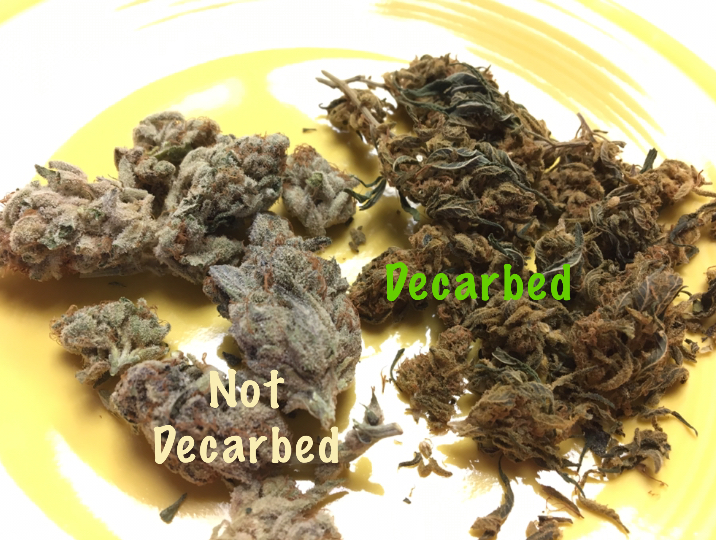 Before & after decarbing for cannabis infusions.