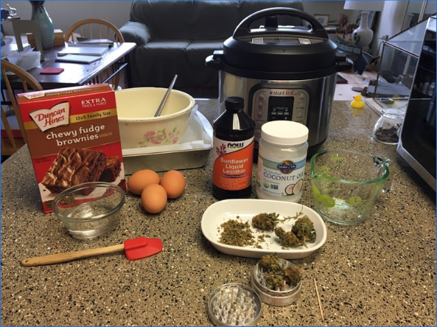 The arsenal for your perfect pot brownies