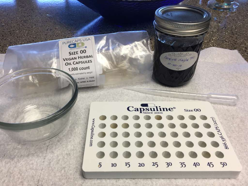 The beginnings of your cannabis microdosing setup.