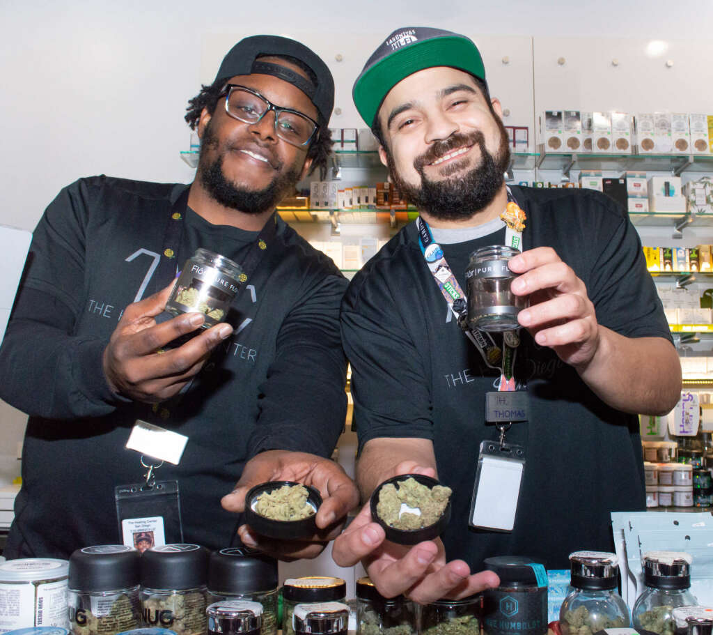 Chris & Thomas- two of THCSD's awesome budtenders.