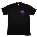 UNISEX PREMIUM BLACK, PURPLE LOGO (L)