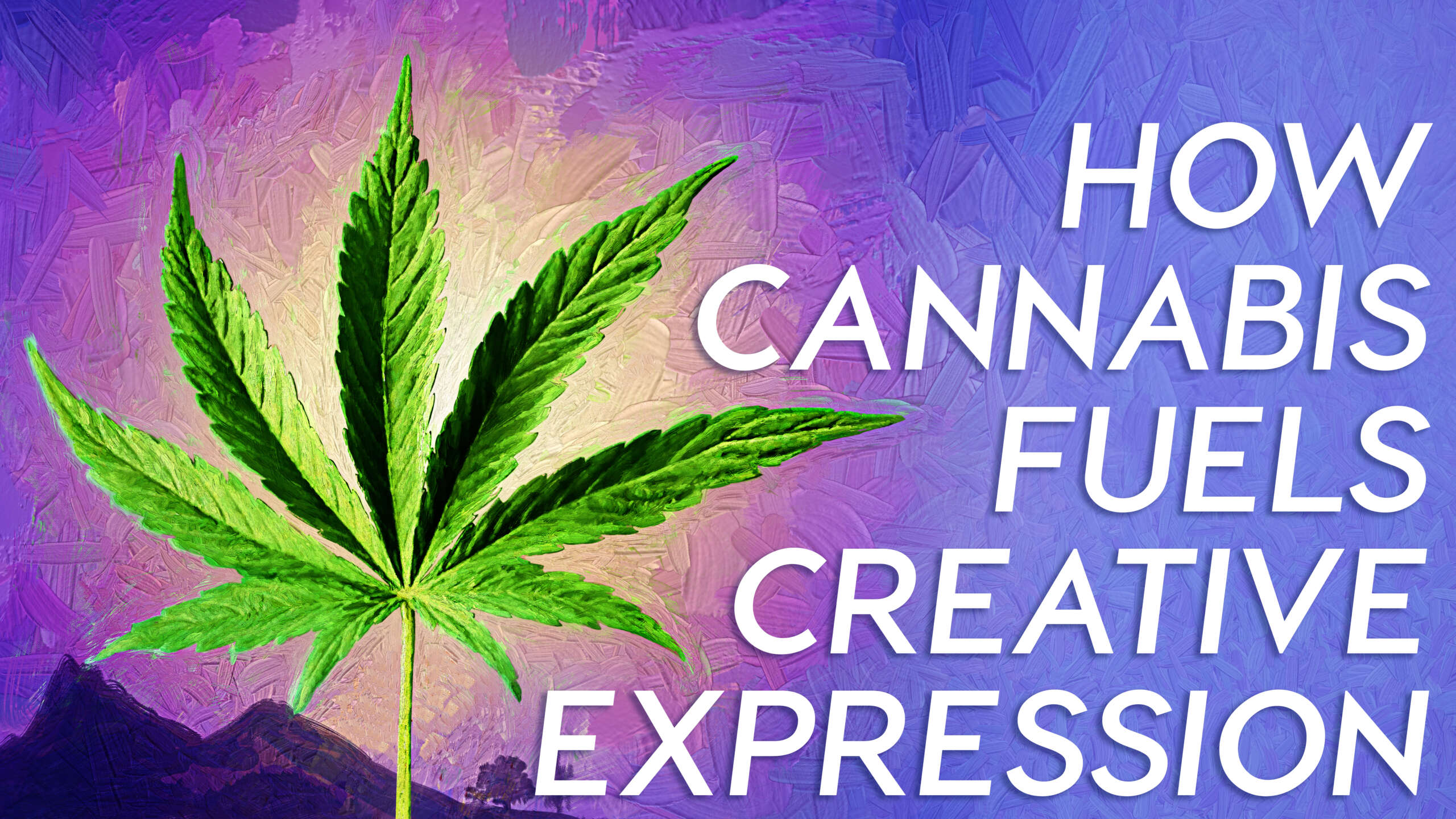 Examining how cannabinoids effect creative expression.