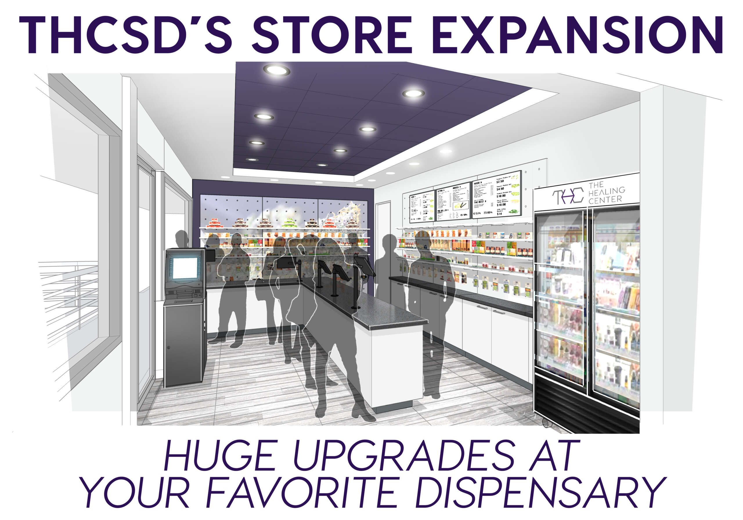 An overview of what you can expect from THCSD's new store expansion in 2021.